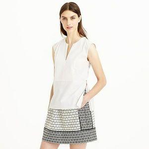 <j.crew> sleeveless side zip blouse